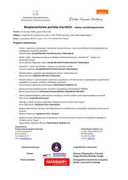 Program seminarium - Urząd Morski w Szczecinie