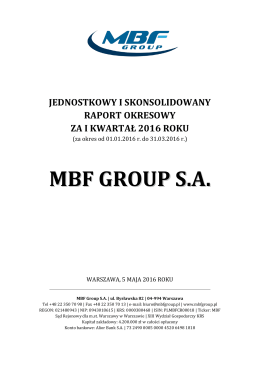 MBF GROUP S.A.
