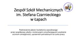 kliknij aby pobrać - Zespół Szkół Mechanicznych im. Stefana