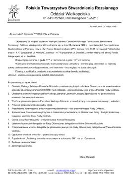 PDF – Walne Zebranie - ptsr oddział wielkopolska