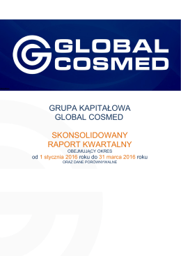 GRUPA KAPITALOWA GLOBAL COSMED