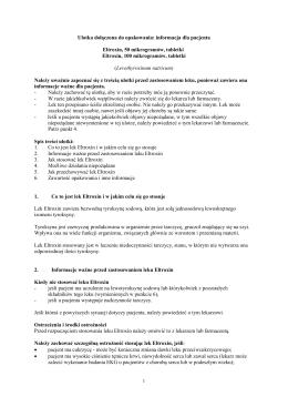 Informacja o leku dla pacjenta (( dotyczy leków Rp
