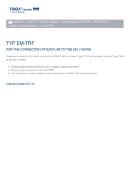 TYP EM-TRF - TROX BSH Technik Polska Sp. z oo