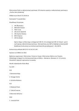 Mistrzostwa Polski w radioorientacji sportowej i XIII otwarte zawody