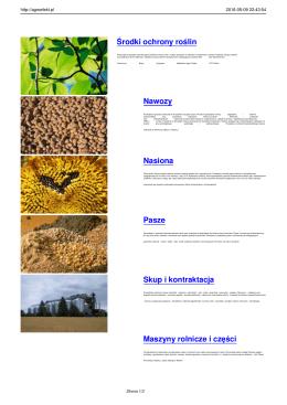 Oferta - AGRO EFEKT - maszyny rolnicze, środki ochrony roślin