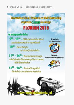 Florian 2016 - serdecznie zapraszamy!