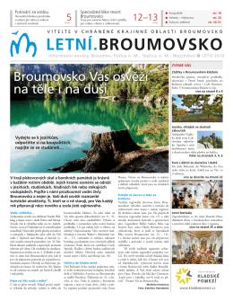 Vyšly turistické noviny Letní.Broumovsko 2016
