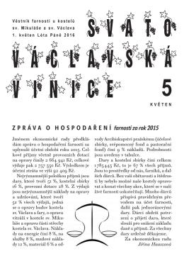 Svatovaclavska vinice - Římskokatolická farnost Vršovice