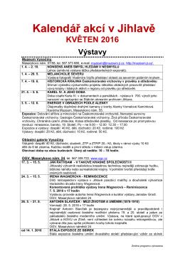 Kalendář akcí v Jihlavě