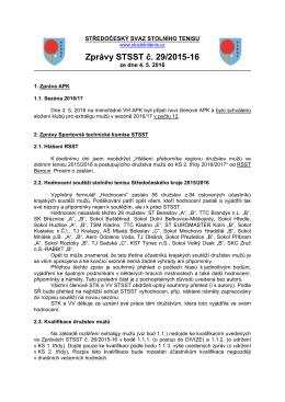 Zprávy STSST č. 29/2015-16 - Středočeský svaz stolního tenisu