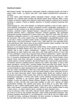Homilie biskupa Františka Radkovského 30.4.2016
