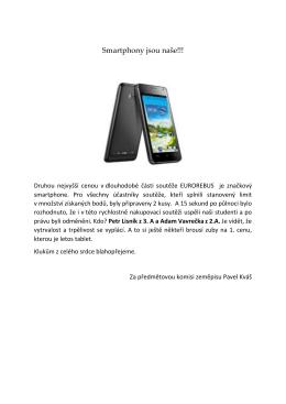 Smartphony jsou naše!!!