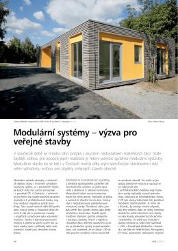 Modulární systémy – výzva pro veřejné stavby
