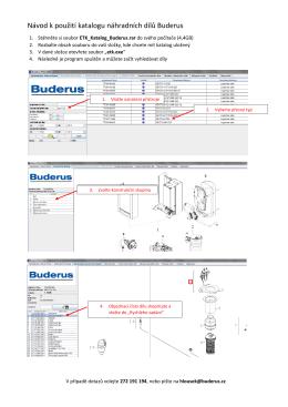 Návod k použití katalogu náhradních dílů Buderus