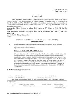 Usnesení o nařízení další elektronické dražby, Exekutorský úřad