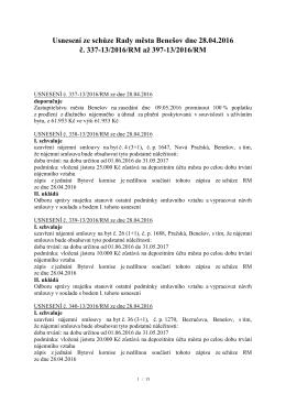 usnesení RM 2016-04-28