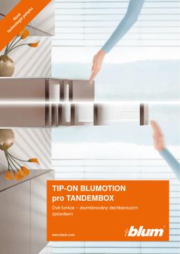 Brožura TIP-ON Blumotion pro TANDEMBOX