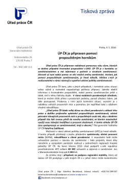 ÚP ČR je připraven pomoci propouštěným horníkům