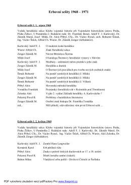 Erbovní sešity 1968 - heraldická společnost v praze
