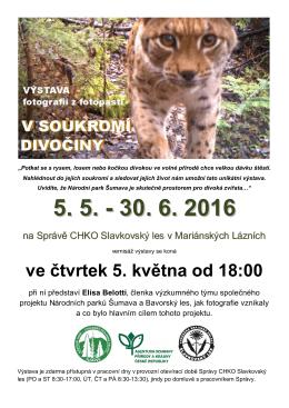 Plakat V soukromi divociny - Správa CHKO Slavkovský les
