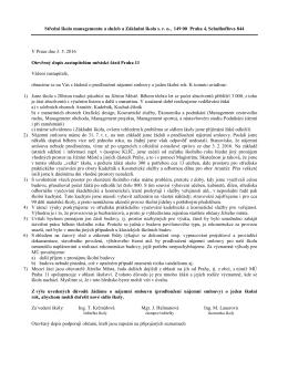 Otevřený dopis - Střední škola managementu a služeb s.r.o.