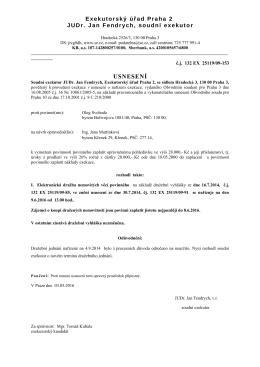 usnesení - Praha 3