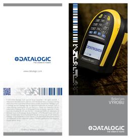 výrobu - Datalogic