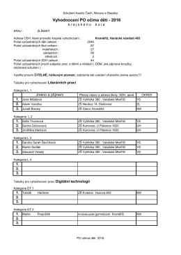 Vyhodnocení - Okresní sdružení hasičů Vsetín