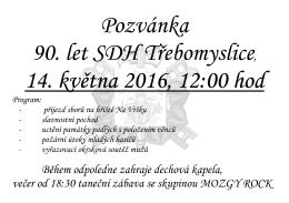 90. let SDH Třebomyslice