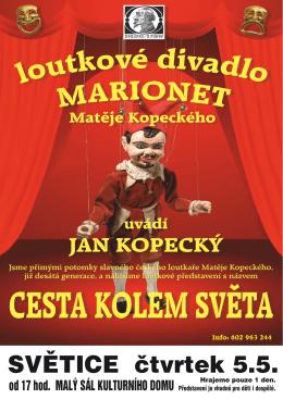 Loutkové divadlo Matěje Kopeckého dne 5.5.2016