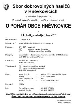 Pozvánka Hněvkovice