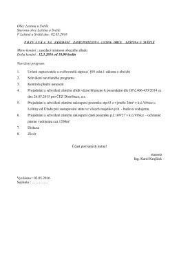 Pozvánka na zasedání Zastupitelstva 12.5