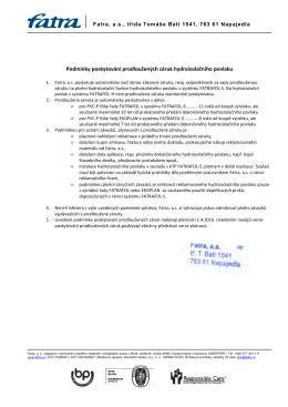 FATRAFOL prodloužená záruka