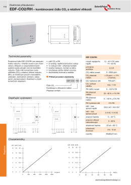 EDF-CO2/RH – kombinované čidlo CO2 a relativní vlhkosti