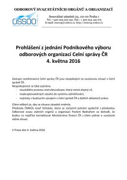 ZDE. - Odborový svaz státních orgánů a organizací