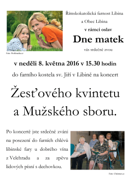 Žesťového kvintetu a Mužského sboru.