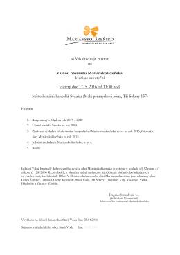 DSO - Pozvánka na valnou hromadu 17.05.2016