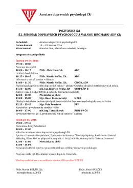 Program semináře a bližší informace naleznete zde.