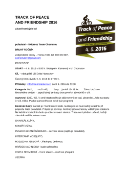 track of peace and friendship 2016