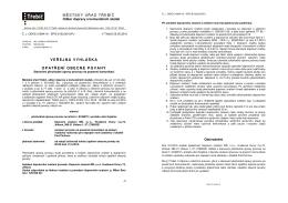 Veřejná vyhláška - Opatření obecné povahy