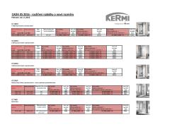 CADA XS rozšířená nabídka o nové rozměry od 1.5.2016