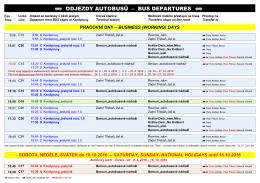 ODJEZDY AUTOBUSŮ – BUS DEPARTURES