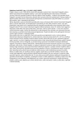 Digitalizace fondů NPÚ
