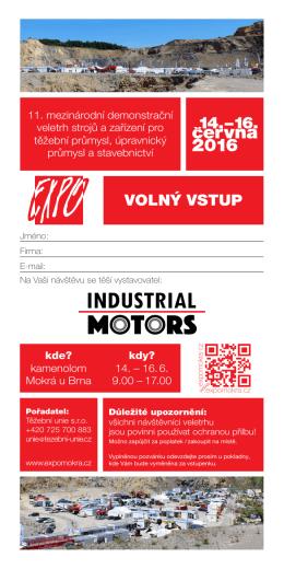 volný vstup - Industrial Motors