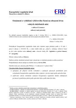 VŘ_odbor II.instance - Energetický regulační úřad
