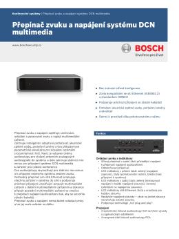 Přepínač zvuku a napájení systému DCN multimedia