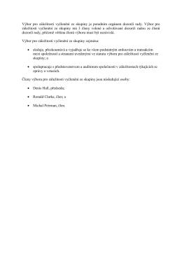 Výbor pro záležitosti vyčlenění ze skupiny je poradním orgánem