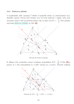 13.4 Eulerova přímka V trojúhelníku ABC označme T těžiště, O