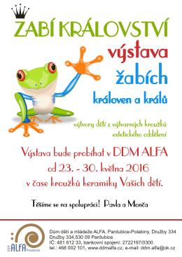 Letáček - DDM ALFA Pardubice
