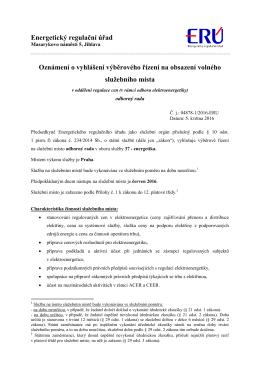 VŘ_oddělení regulace cen(v odboru elektroenergetiky)